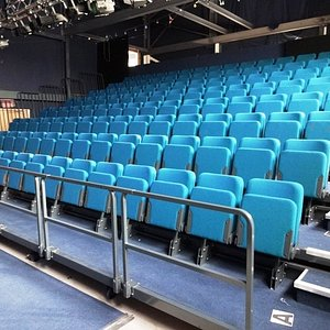 The puppet theatre seats are raked too give greta site lines for all ages