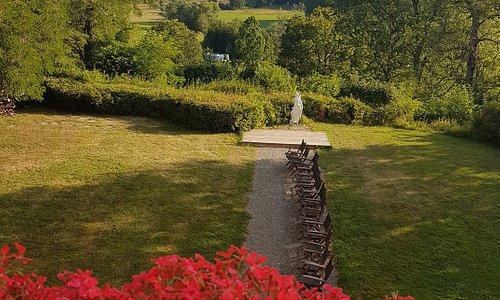 Utsikten från balkongen Husby säteri.