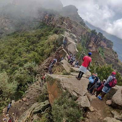 myGuzo organizes large group hiking in Ethiopia such as this which took 52 people from Lalibela to Hudad Lodge (as well as the rest of Northern Ethiopia)