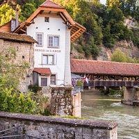 Pont de Berne Fribourg, old town