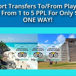 We have the best rates for your Airport Transfers to & from Playa del Carmen and for the entire Riviera Maya too, book now!