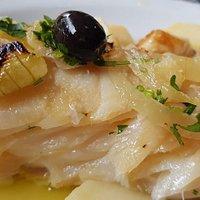 Lombo de bacalhau português.