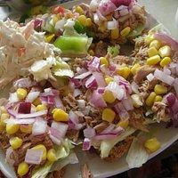 Tuna and salad on soda bread