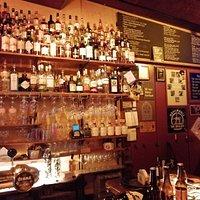 Whiskys and bottled beer menu