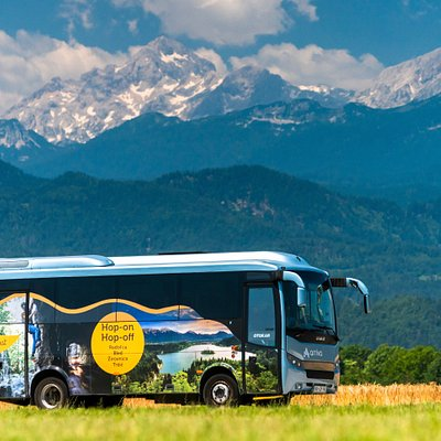 Hop-On Hop-Off Bus will drive you from Lake Bled to the countryside
