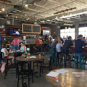 Taproom with Bingo game on