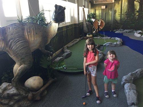 Dino Mini Golf Blackpool tower