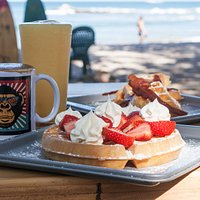 Enjoy your tasty waffles and fresh brewed Costa Rican coffee right by the beach in Playa Tamarindo