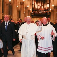 Pope Francis with Msgr. Robert Ritchie, Rector of St. Patrick's Cathedral, NYC