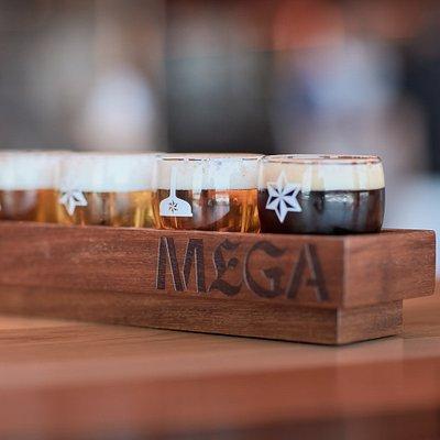 La visita a Mega, se culmina con una degustación de 5 de nuestras cervezas Estrella Galicia o una caña. Finaliza la visita a la fabrica de cervezas disfrutanto de lo que Mundo Estrella Galicia te puede ofrecer.