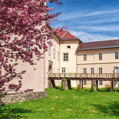 Uzhhorod Castle in Spring