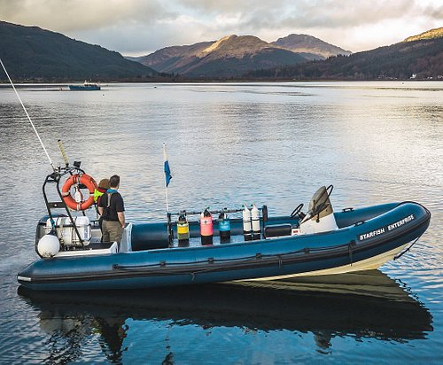 Rib Rides and Scuba diving in the Clyde, based in Dunoon. What a view!!