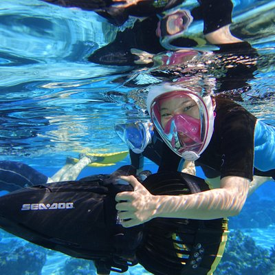 Moorea tours, Sea scooter snorkeling tour to explore an amazing coral garden,swim with stingrays,turtles,sharks....