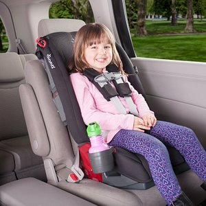 5-point harnesses for children up to 65lbs