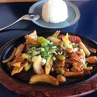 cashew chicken with rice