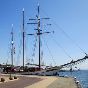 Tall Ship Willem Barentsz at the quay in Urk