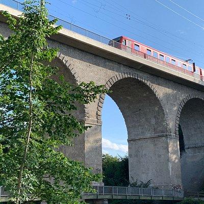 Viadukt Eisenbahnbrücke Traunstein