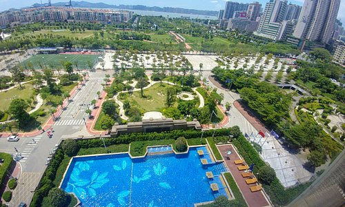 Great view from my room at Sheraton Shantou - (6/Aug/19).
