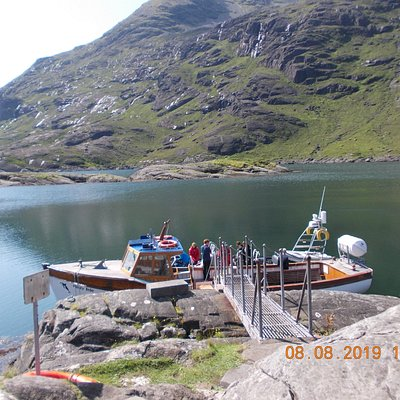 Misty Isle boat trip Isle of Skye from Elgol to Loch Coruisk wthin the panoramic horseshoe of the black Cuillin mountains Excellent value with local skipper and knowledgeable sail tour guide. Generous time ashore and hot drinks onboard. Stunning scenery.  Wildlife variety...deer to seal et.  Very enjoyable trip.