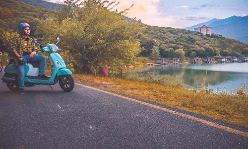 This photo had taken in Kvareli, Ilia's Lake... Around the place are beautiful viewvs, forest, mountains, sky, lake, everything was together so amazing... I always choose Maita Scooter to have meorable and brathtaking Adventure...