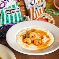 Famous Asiago Shrimp & Grits. They're addicting!