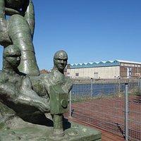Het beeld van de havenarbeiders