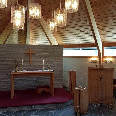 Hyggelig i  fjellkirken