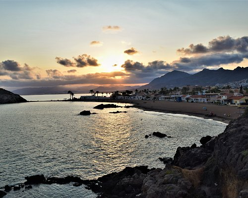 Sunset over playa Nares view from Punta de Nares