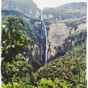 Catarata de Gocta 😉 Bongará Explorer  Operador Turístico  Contacto: 📞 +51 - 979 214 612                 ☎  041- 260077 Chachapoyas - Amazonas - Perú