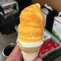 Butterscotch dipped cone...