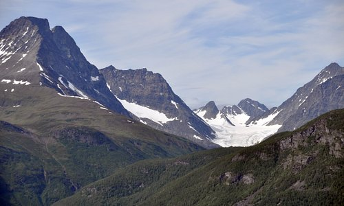 View to the Steindal glacier from Bollmann's path