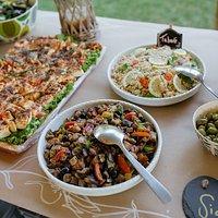 salades, quiches