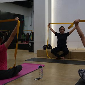 foto lagi latihan yoga