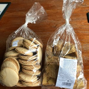Large biscuits bags from Le Drean factory shop.