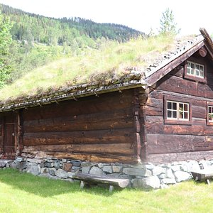 Farmers house made of enormous logs