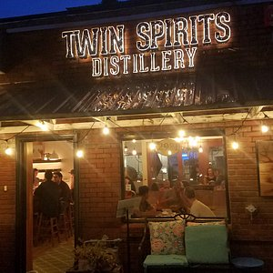 This is what the front of the distillery/bar looks like