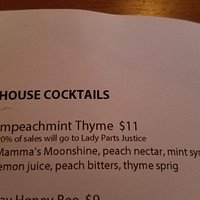 Clever titles of drinks.  Here is a sample.