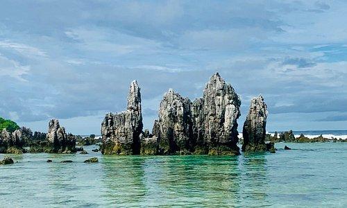 Best beach in all of Nauru! Interesting rock pillars , which are best viewed during low tide.