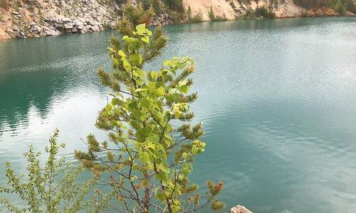 Осень красивая и чистая вода. Правда купаться я бы не стала как и в любом другом Карьере