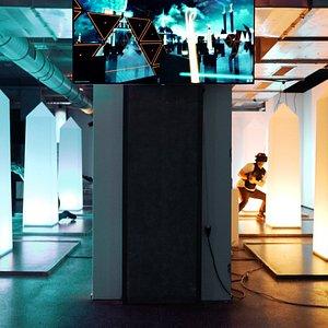 VR Lasergamen bij the VR Room Amsterdam.