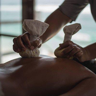 Warm Salt Compress Massage