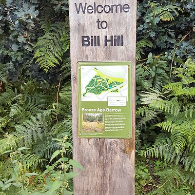 Welcome signs as you approach Bill Hill Ancient Monument area