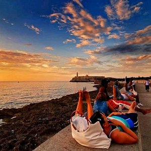 Sunset at malecón
