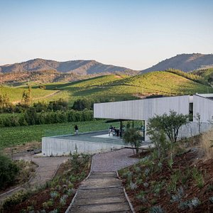Our new tasting room overlooking Casablanca Valley.