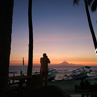 Breathtaking sunset over My. Aging in Bali for the new Verve Beach Club, Lombok