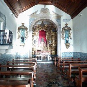 Inside the touching Igreja e Mosteiro de Nossa Senhora do Monte Serrat in Salvador.