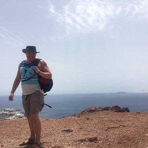 View from the top of Rojo towards Fuerteventura.