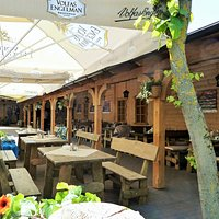 Restaurangen Juone Pastouge i Siauliai