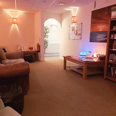 Our chill out room for post float relaxation....including complementary massage chairs and herbal tea