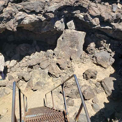 Stairs down into the lava tube